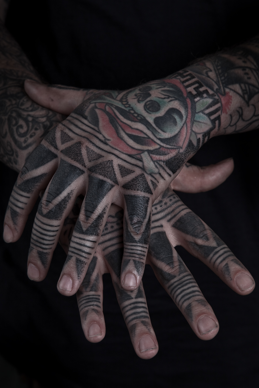 hooper tribal hand tattoo