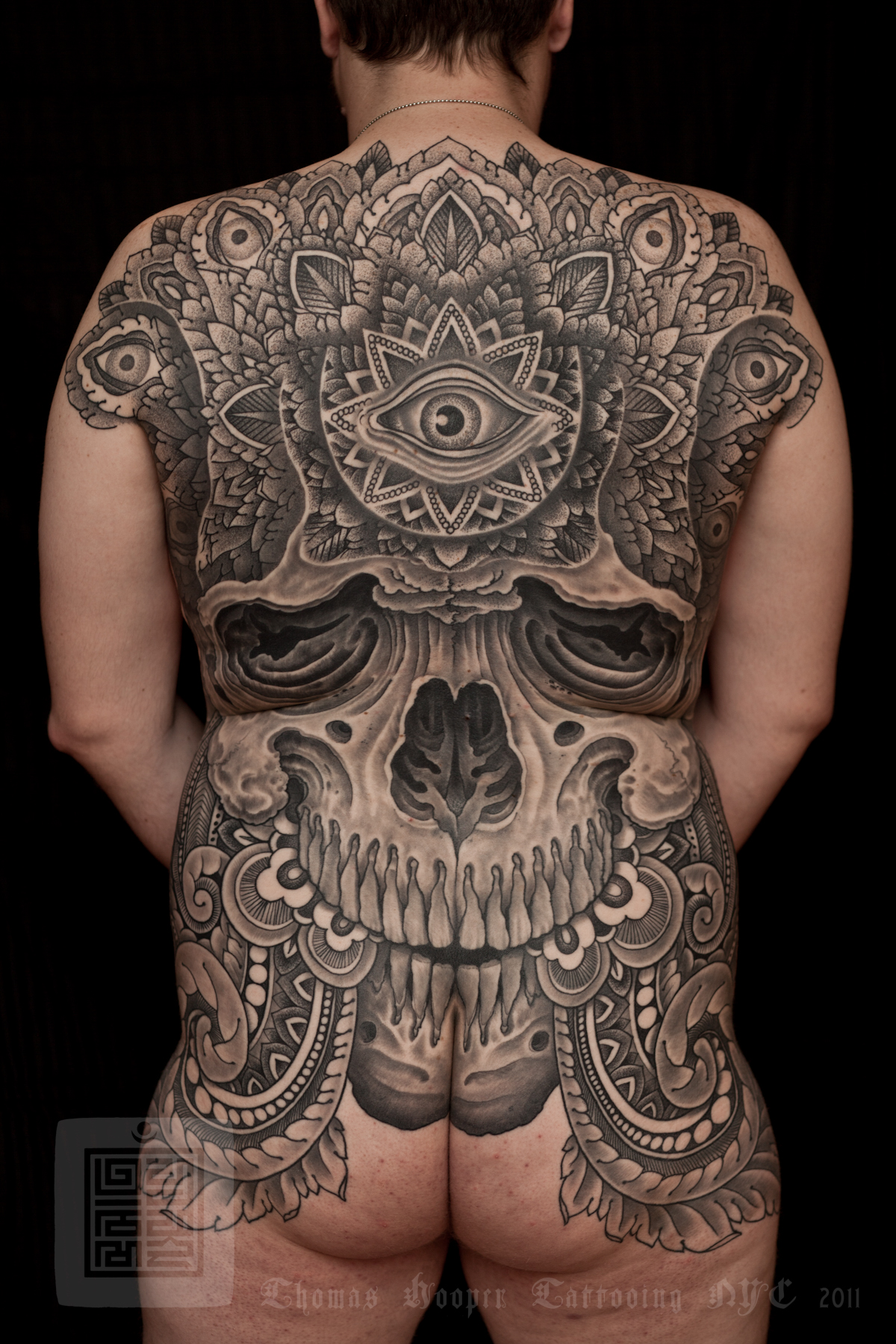 saved tattoo skull back