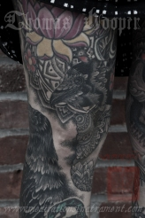 Linda's Legs Tattooing by Thomas Hooper - 003 - July 14, 2011