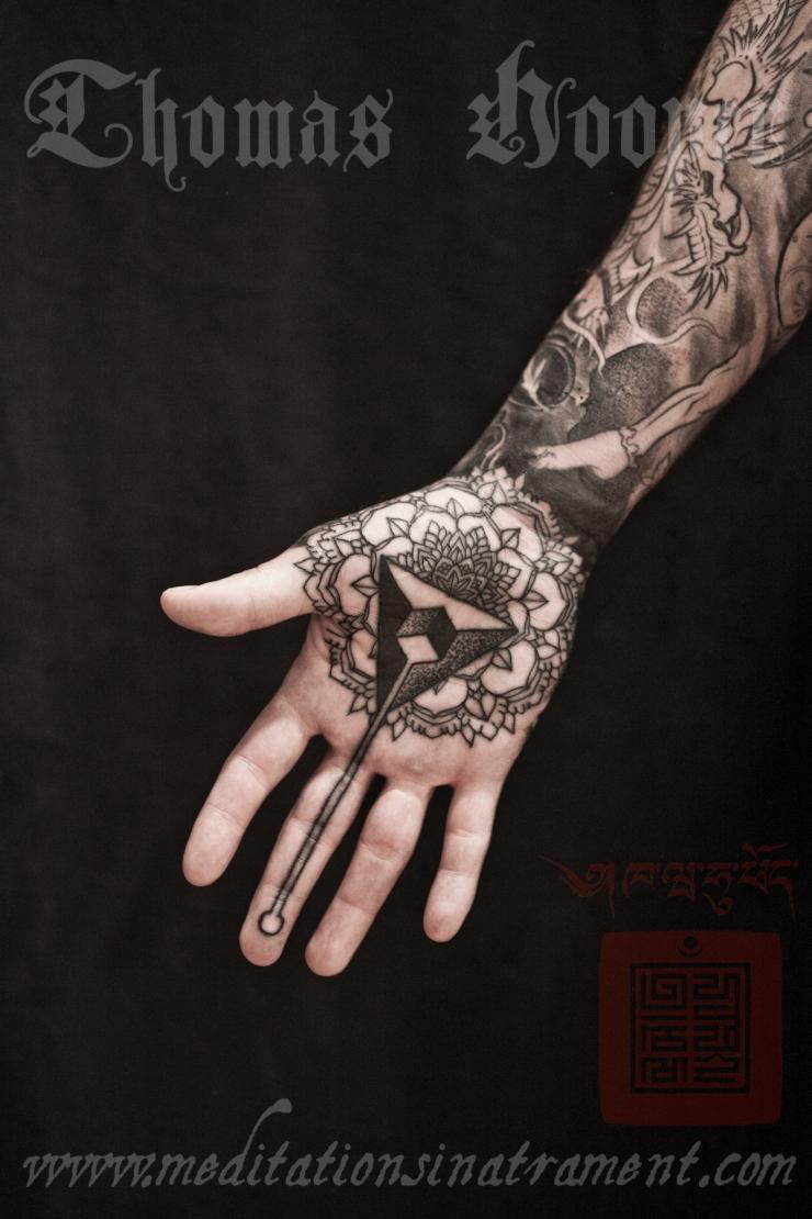 freaky mandalas hand art tattoos from new york city. Black Bedroom Furniture Sets. Home Design Ideas