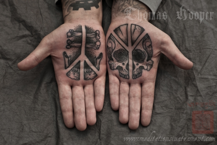 life and death tattoo by thomas hooper. Black Bedroom Furniture Sets. Home Design Ideas