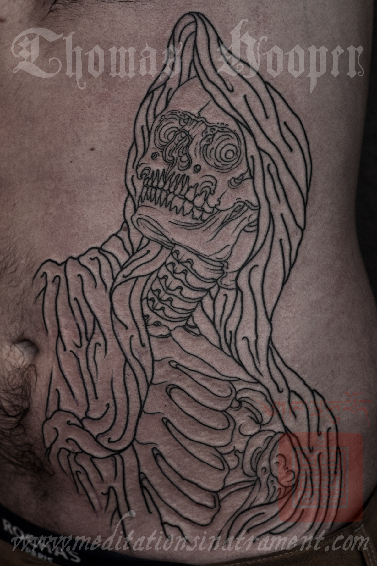 crew skull tattooing