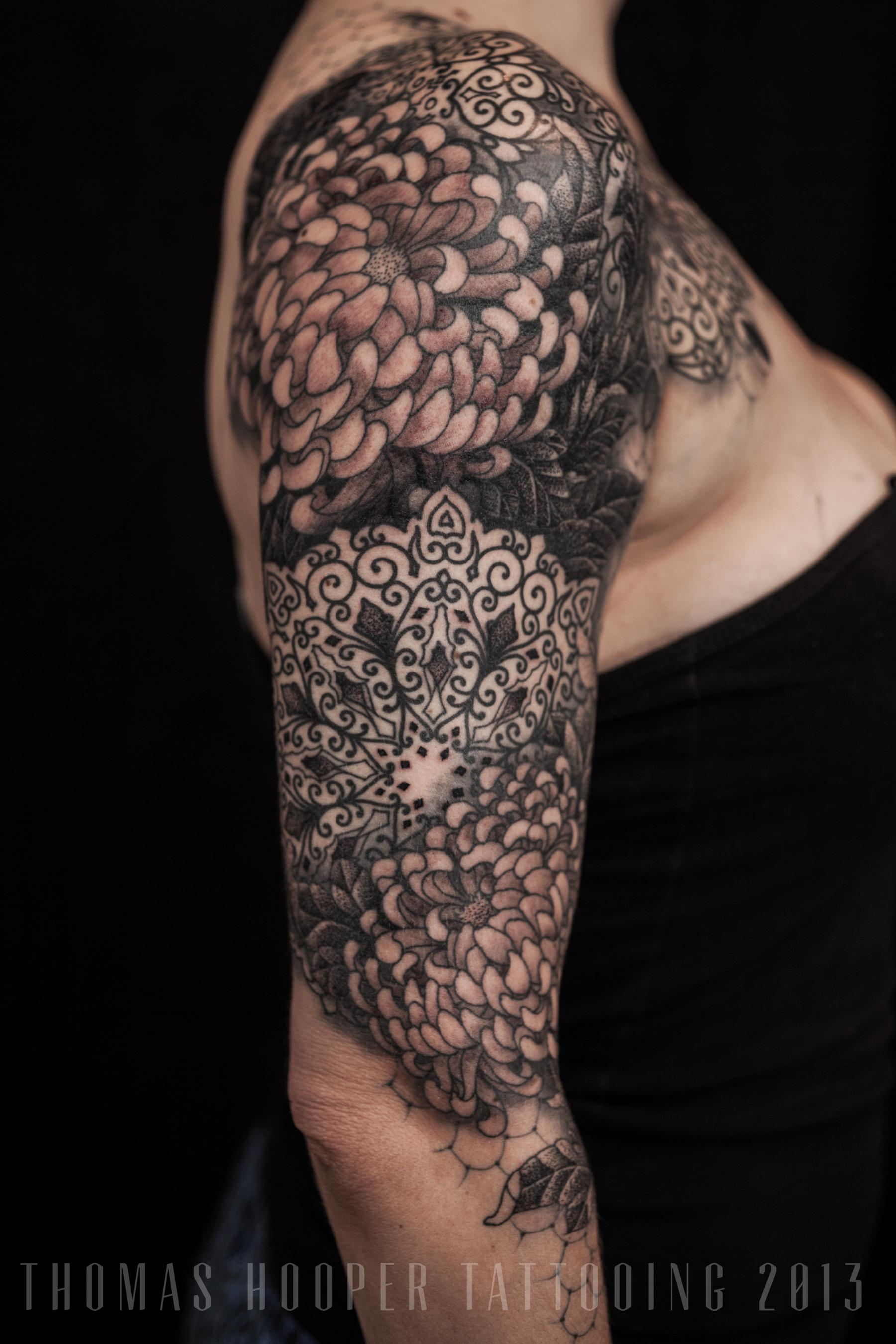 mandala ornamental tattoo sleeve thomas hooper tattooing 3. Black Bedroom Furniture Sets. Home Design Ideas