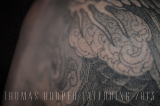 Thomas Hooper Tattooing Pheonix and Mandala Full Sleeve _9
