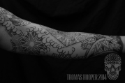 Skull Mandala Layered Thomas Hooper Dotwork Tattoo-7