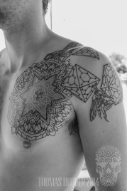 Polyhedra Honeycomb Fifth Element Bee Mandala Tattoo Thomas Hooper-2